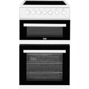 Beko EDVC503W Electric Cooker with Double Oven